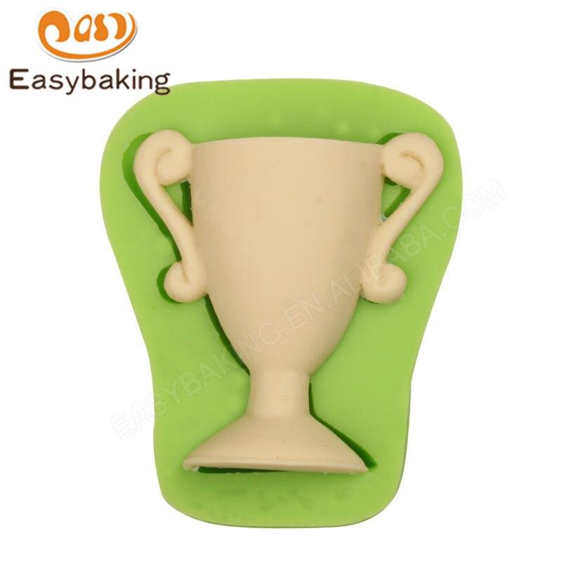 Molde para Chocolate, moldes de caramelo, utensilios de decoración de tartas para recuerdo, forma de trofeo en 3D