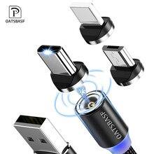 Oatsbasf nouveau USB C magnétique pour iPhone Micro USB C USB C chargeur magnétique câble en Nylon pour redmi note 7 huawei p30