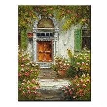 Nuevo 100% pintura al óleo pintada a mano imágenes de paisaje de pared de alta calidad para sala de estar DM-15110310