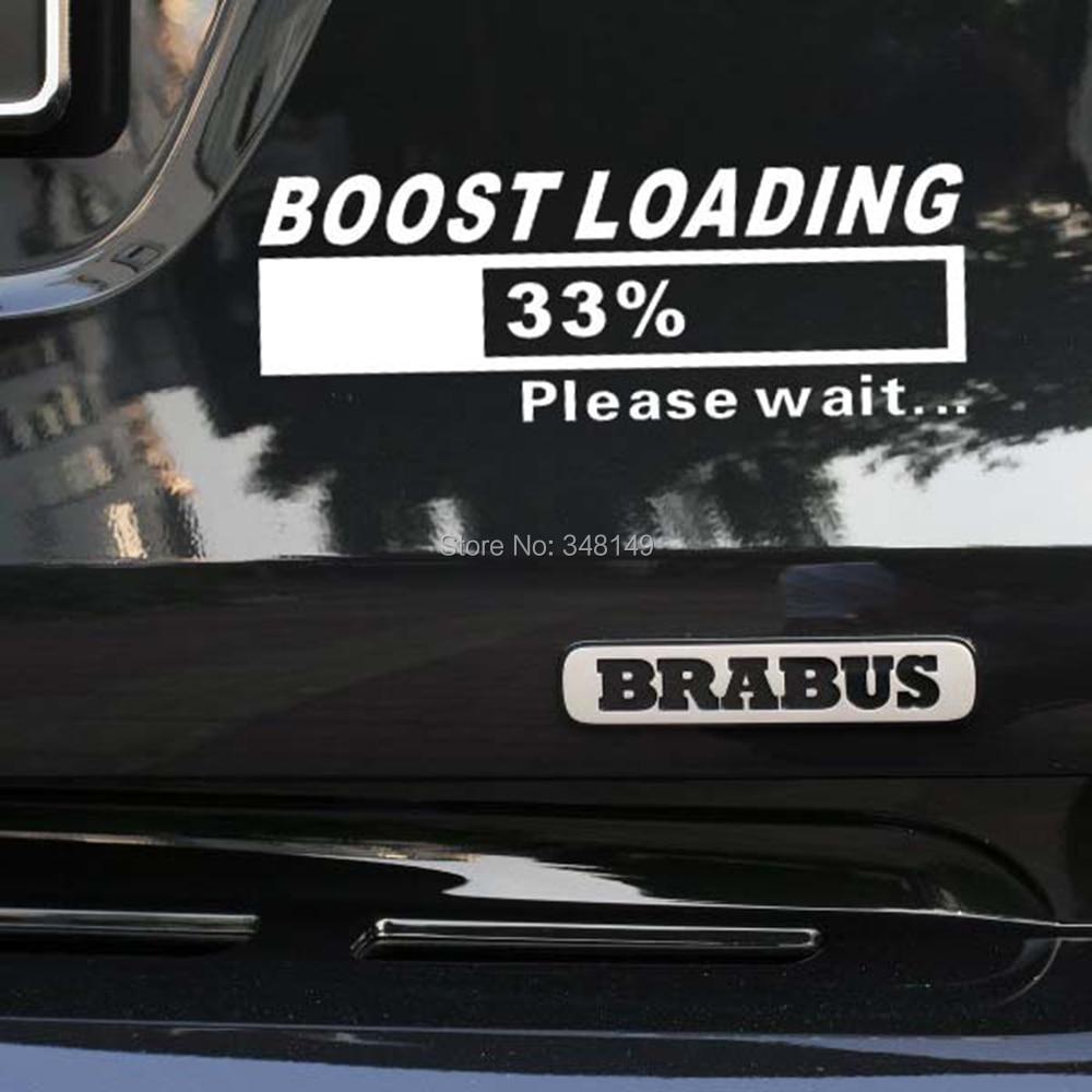 Aliauto Engraçado Adesivos de Carro decal Turbo Boost Carregador Carregamento para Volkswagen golf 7 Ford Chevrolet Honda Hyundai Lada