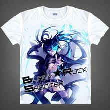 Black Rock Shooter T-shirts kawaii Japanese Anime t-shirt Manga Shirt Cute Cartoon Mato Kuroi Cosplay shirts 37166799598 tee 339