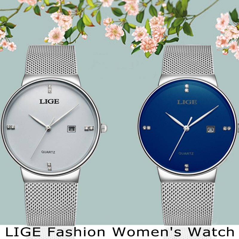 2019 LIGE Women Watch Rose gold black Quartz Watch Lady Casual Waterproof Simple Ladies watch Womens Wristwatch Relogio Feminino enlarge