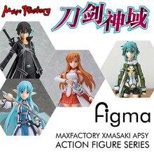 MaxFactory Max usine Figma épée Art en ligne SAO ALO Kirito Asuna Sinon Shinon Figurine modèle Collection Figurine Figuras