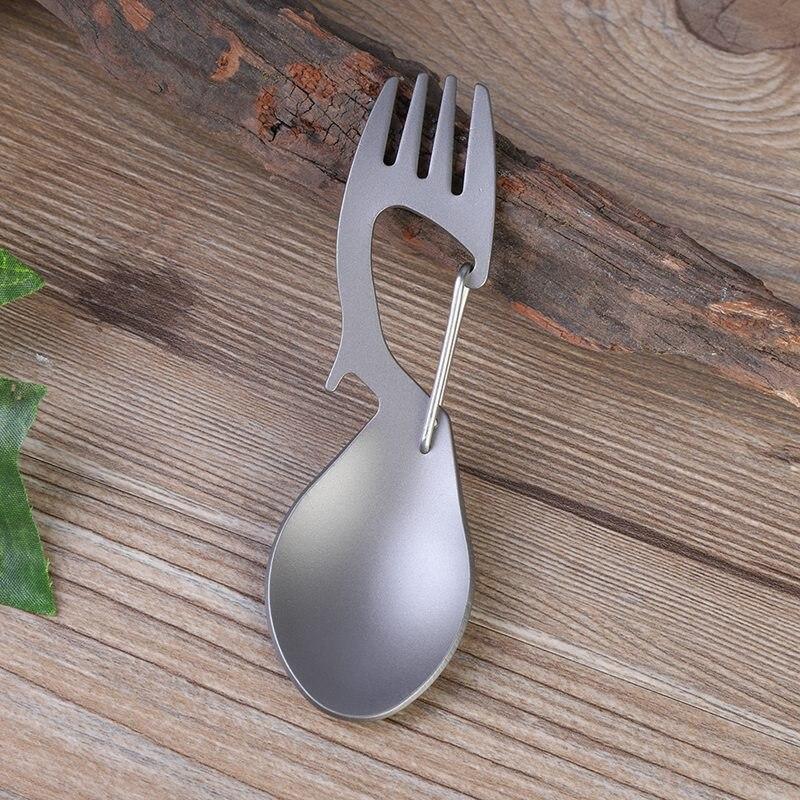 Camping al aire libre vajilla cuchara tenedor acero inoxidable/aleación de titanio práctico portátil viaje esent alta calidad