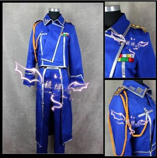 El Alquimista Fullmetal Roy Mustang Cosplay traje