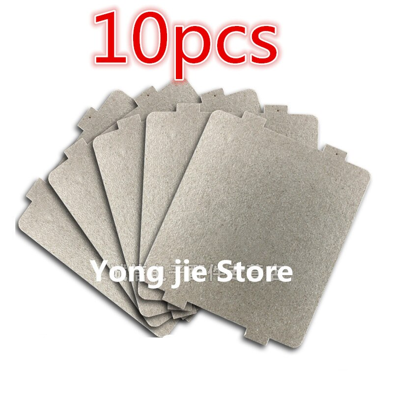 10 Uds 9,9*10,8 cm piezas de repuesto para hornos microondas mica láminas de mica para Midea magnetron cap placas de horno de microondas
