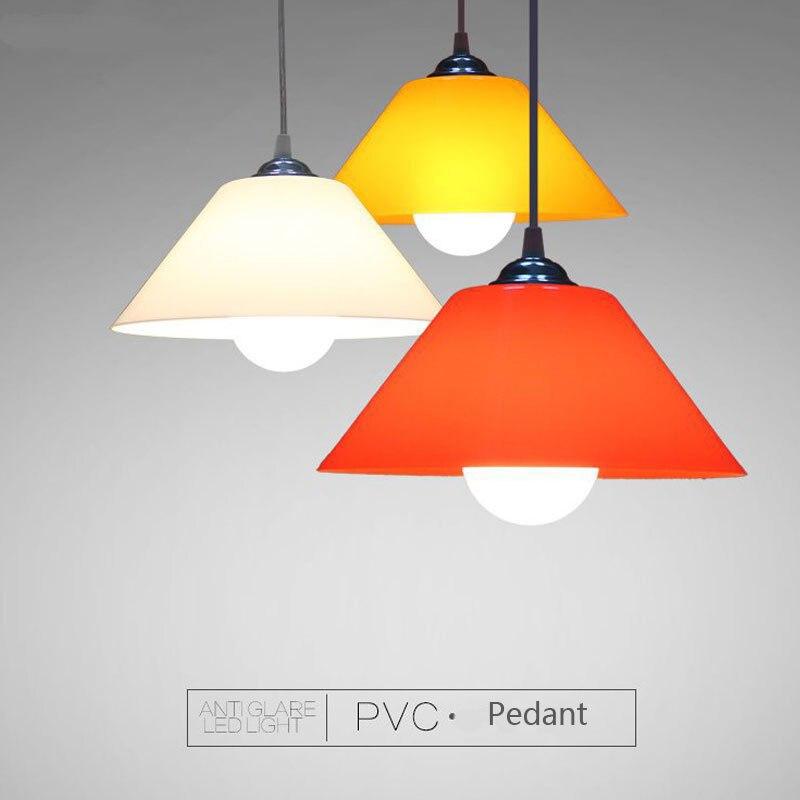 Lámparas colgantes de PVC modernas, pantalla de plástico para cocina, comedor, habitación, lámpara para colgar, iluminación del hogar, decoración, luminaria de supermercado