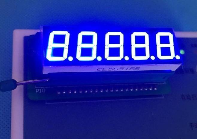 "10 pces 7 segmento comum cátodo/ânodo tubo digital de 5 bits 0.56 ""0.56in. Led azul display 7 segmentos led tubo digital"
