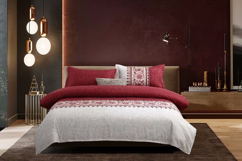 European Rustic Bedding Set Fashion Mens Boys Duvet Cover Set