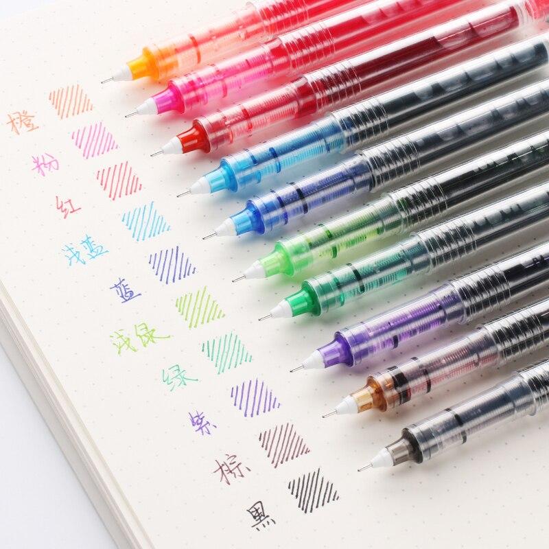 CHENG PIN Новинка 0,5 мм Жидкость Тип Go Ball простой стиль нейтральная ручка цвет жестковолосой письмо Подпись офисные школьные принадлежности