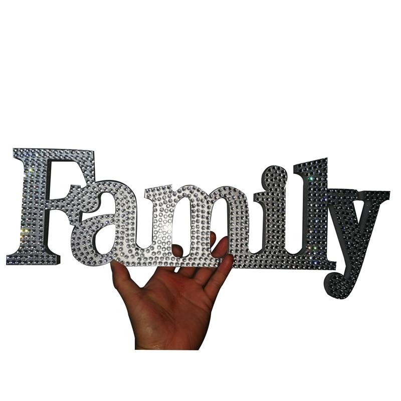 Crystal diamond family logo free standing letter wedding family gift new gift sign