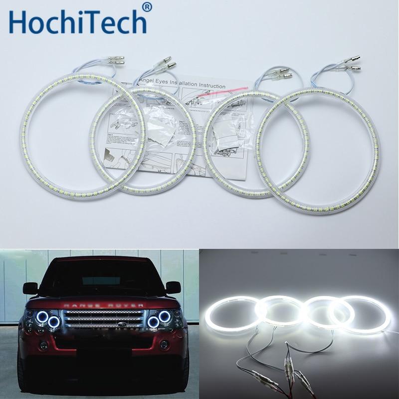 Ultra bright SMD white LED angel eyes halo ring kit dayt  light DRL For Land Rover Range Rover L322 Vogue 2003-2009 XENON light