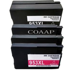1 Full Set Compatible HP 953 XL Refillable ink Cartridge For photosmart pro 8210 printer