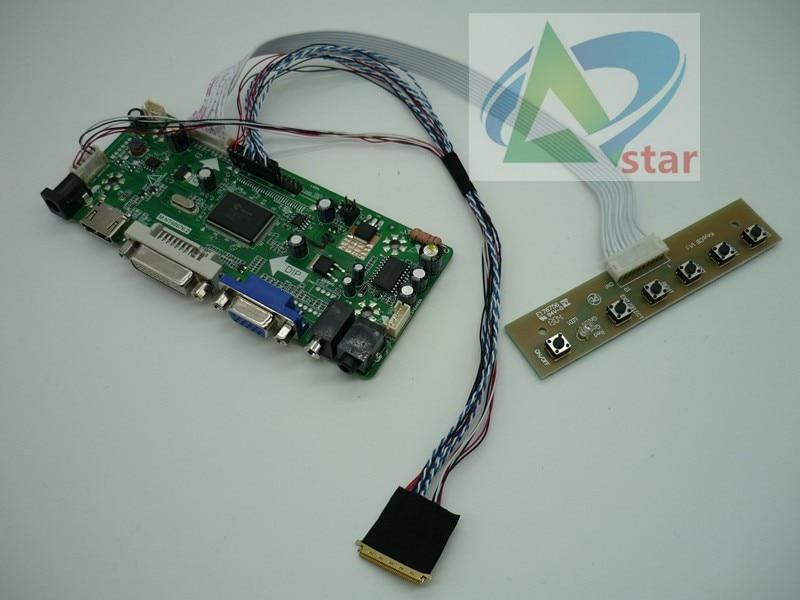 "HDMI + DVI + VGA + аудио набор для платы ЖК-контроллер для 17,3 ""N173O6-L02 B173RW01 1600*900 40 иглы ноутбука ЖК-контроллер платы DIY наборы"