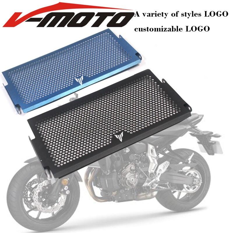 Para yamaha mt07 tracer Mt-07 fz07 FZ-07 mt 07 2014-2018 radiador capa protetora guardas grade de radiador capa protecter