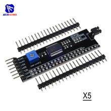 I2C MCP23017 12864 LCD Adaptador Placa IIC TWI SPI Interface Serial Board Para Arduino Módulo Conversor Expansor 1602 2004 Com pin
