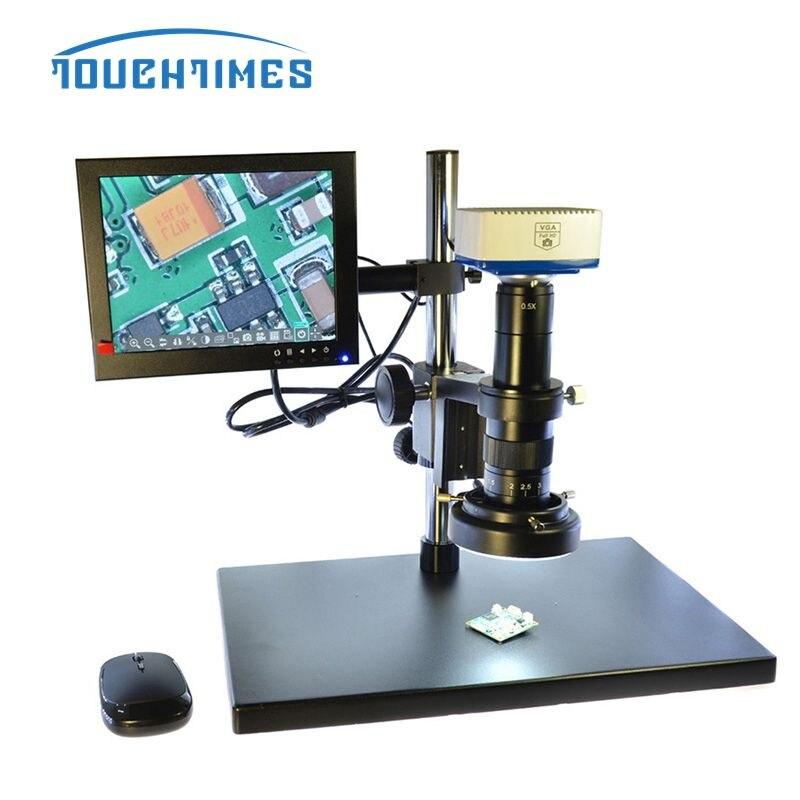 مجهر فيديو إلكتروني عالي الدقة لإصلاح اللوحة الأم BGA PCB Chip