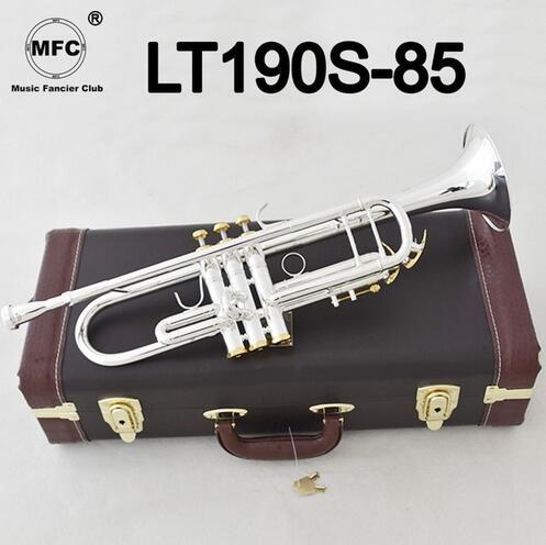 Instrumentos Profesionales de Bb trompeta, LT190S-85, plata, con funda, novedad