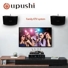Oupushi AV760N + KB10 + HU386 altavoz amplificador y micrófono sistema de cine en casa sistema de canto familiar KTV