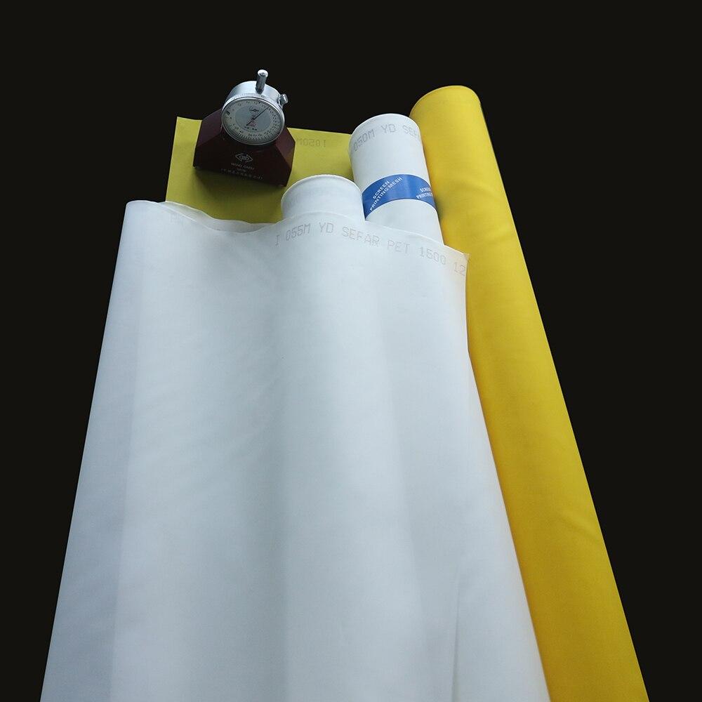 255 malla 100 T 40um blanco o amarillo 25 metros monofilamento poliéster serigrafía malla
