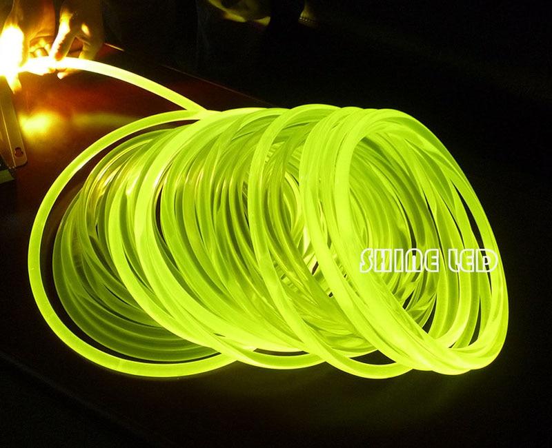 super bright PMMA optical fiber cable side glow 5/6/8 mm diameter for fiber optic lighting DIY Light decoration