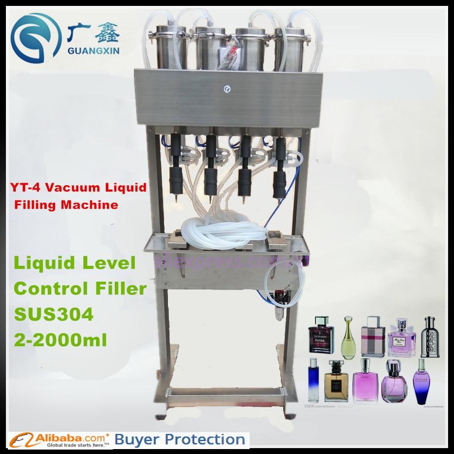 Máquina de enchimento de perfume a vácuo, máquina de enchimento para perfume, controle a vácuo para garrafas de vidro, YT-4