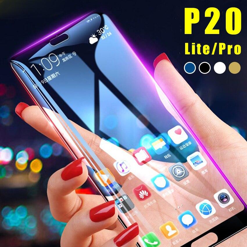 Vidrio templado para Huawei P20 lite Glass para Huawei P20lite Pro en el Protector de pantalla P 20 P20pro 20 P 2 0 película protectora Glas