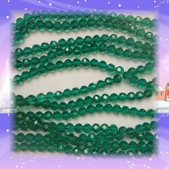 Peacoke verde color 10mm 720 unids/bolsa cristal 32 bola redonda con facetas cuentas para accesorios de decoración de boda