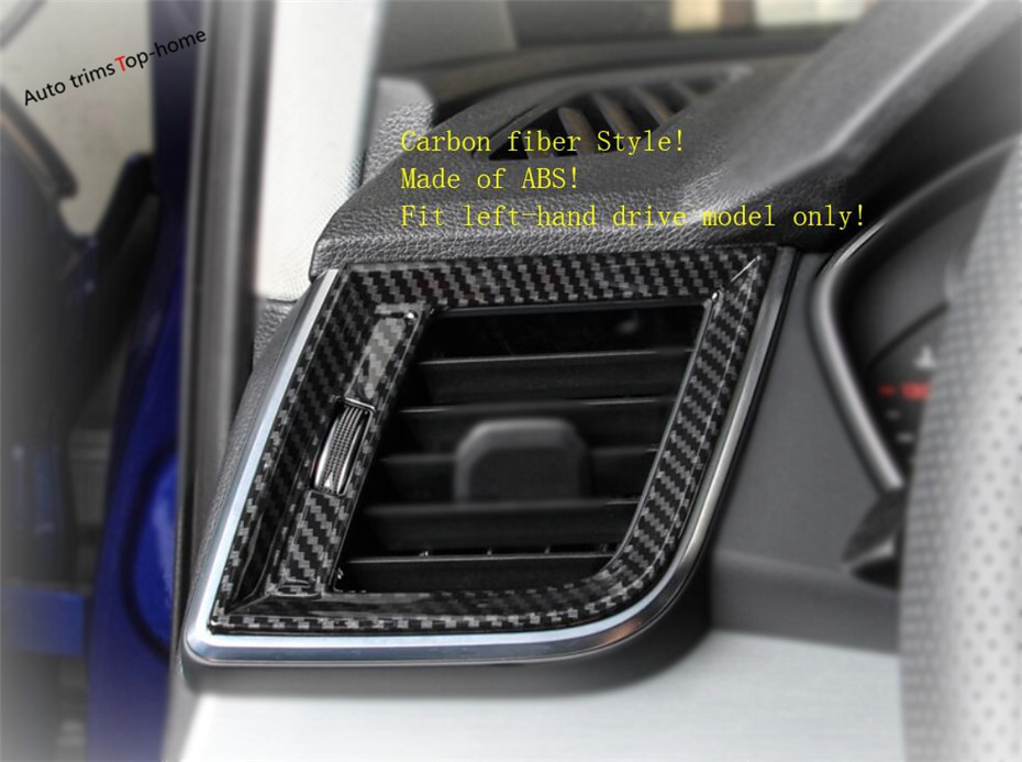 Embellecedores de Yimaautotrims mate/con apariencia de fibra de carbono Interior aptos para Audi Q5 2018 2019 2020 tablero de instrumentos cubierta de ventilación de salida de aire acondicionado lateral embellecedor