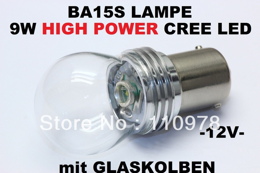 De alta potencia CREE Chip smd-led BA15S 6000K kalt-weiss 9W 12 V voltios P21W Innenraum los siguientes modelos