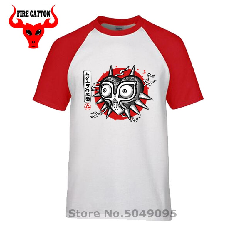 Japoński atrament przeklęty maska T shirt mężczyźni The legend of zelda T-shirt majoras maska tshirt termina hyrule tee koszula triforce koszula