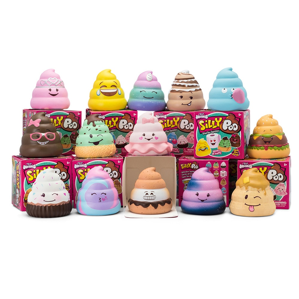 10Pcs/Lot Squishy Silly Poo Blind Box Slow Rising With Packaging Collection Gift Toy 7*6.5*6.5CM enlarge
