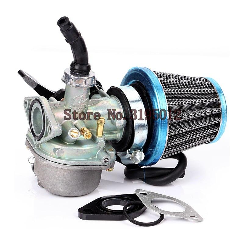 Ручной карбюратор PZ19 19 мм для мотоцикла с воздушным фильтром 35 мм для 50cc 70cc 90cc 110cc 125cc ATV Байк для картинга Pit Bike