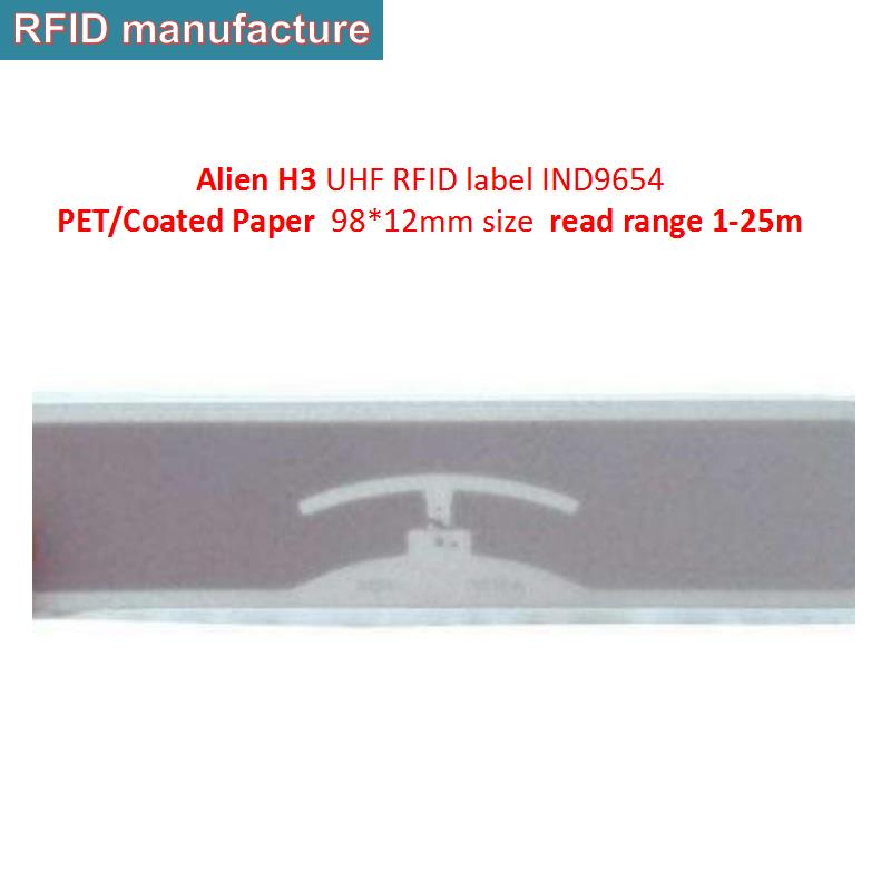 10pc/lot RFID UHF Alien 9654 wet inlay 860~960Mhz Low cost passive UHF RFID Paper Label Sticker Tag for assets management