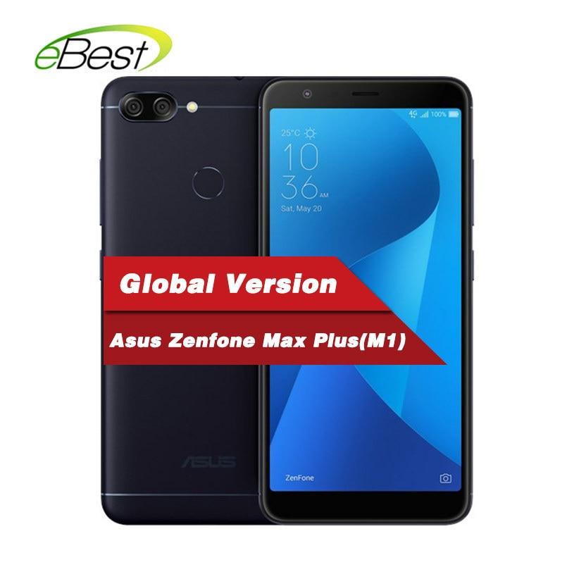 Global Asus Zenfone Max Plus (M1) Mobile phone 5.7 inch 18:9 FHD+ 4GB  64GB Rom MT6750T Octa Core 4130mAh OTG Android Smartphone