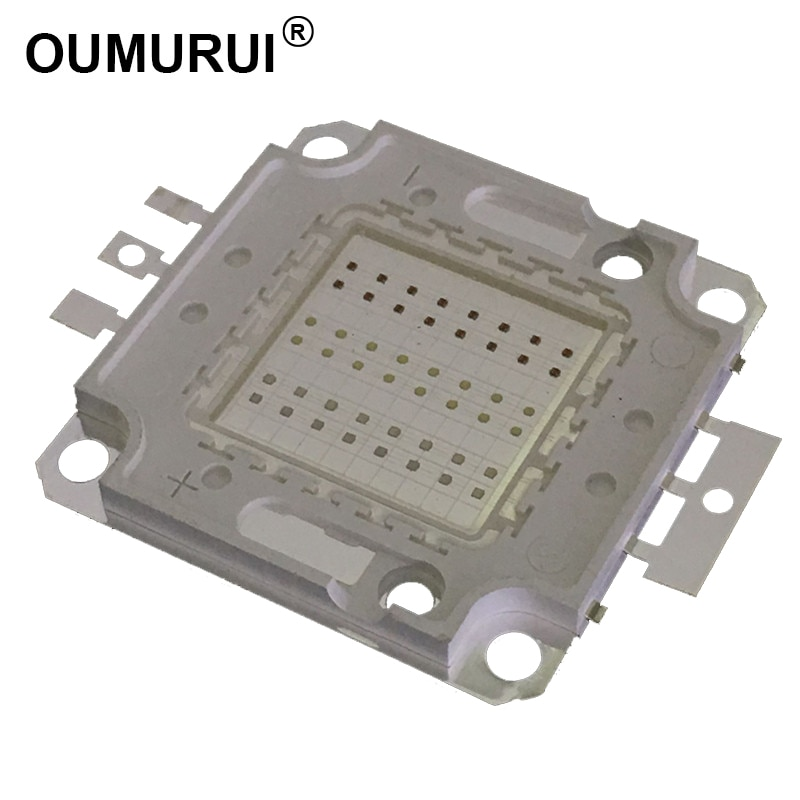 10W/20W/30W/50W/100W LED RGB cob High Power Lamp bulbs bead colorful Red Green Blue light Chips 1pcs