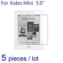 5 pièces E-Book films de protection décran clair/mat Anti-éblouissement/Nano Anti-déflagrant Films de protection pour Kobo Mini 5 5.0 LCD garde