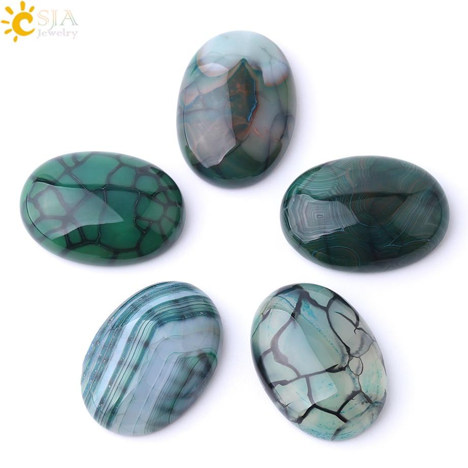Натуральный камень CSJA, зеленый dragon vein, Агаты, кабошоны для рукоделия, рукоделие 30x4 0/22x3 0/18x2 5/15х20 мм F840
