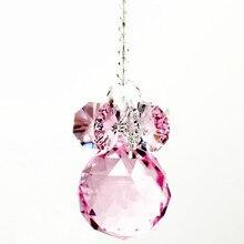 1 шт. 30x300 мм (H) розовые хрустальные бусины с хрустальным граненным шариком для украшения рождественской елки/подвесное украшение для люстры