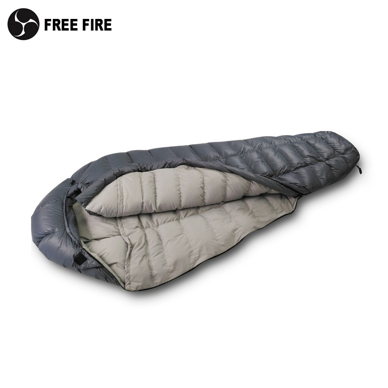 down sleeping bag autumn and winter outdoor adult envelope style thickening thermal duck down sleeping bag 400 1500g filling FREE FIRE camping equipment  sleeping bag winter outdoor camping Cold down sleeping bag Camping