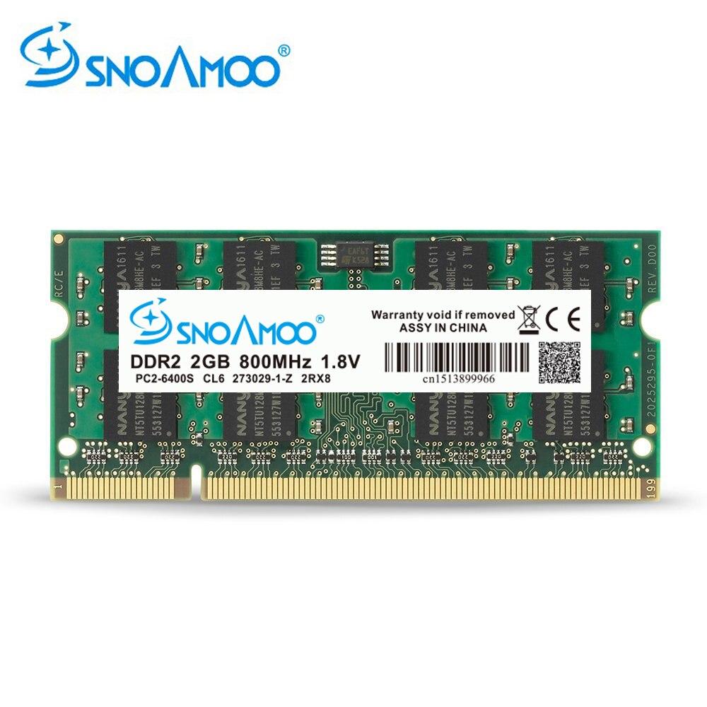 SNOAMOO-Memoria de ordenador portátil cars DDR2, 2GB, 667MHz, PC2-5300S, 800MHz, PC2-6400S, 200Pin,...