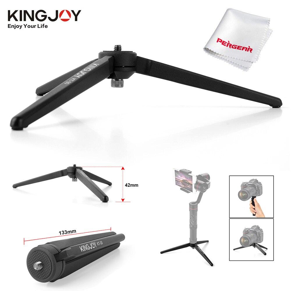 Mini trípode portátil ligero de mesa de aluminio Kingjoy KT-30 para cámara de teléfono Zhiyun Smooth Q Crane 2 trípode multifunción