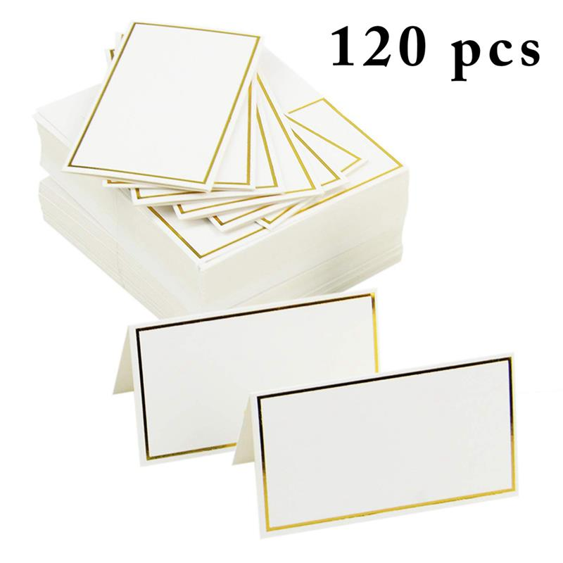 120pcs Place Cards Wedding Party Decoration Table Decor Table Name Message Greeting Card Event Party Supplies Seating Card