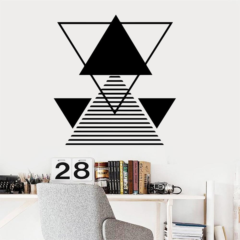 3D Pattern Geometry Math Wall Sticker For Office Room Wallpaper Wall Decals House Decor kids room math stickers mural geometrie