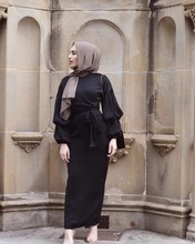 Élégant musulman Abaya Maxi Robe Nida Cardigan manches bouffantes Robe longue robes Jubah Kimono Ramadan islamique caftan culte Service