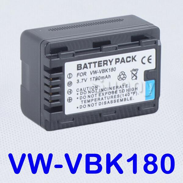 Литий-ионный аккумулятор для Panasonic VW-VBK180, VW-VBK180E, VW-VBK180E-K, VW VBK180, VW-VBK360 и цифровой видеокамеры