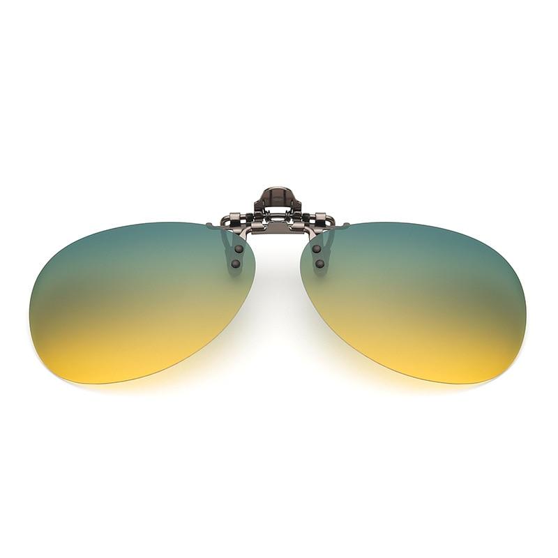 Gläser Polarisierte Clip auf Typ Tag und Nacht für Männliche und Weibliche Fahrer Nachtsicht Fahren Sonnenbrille