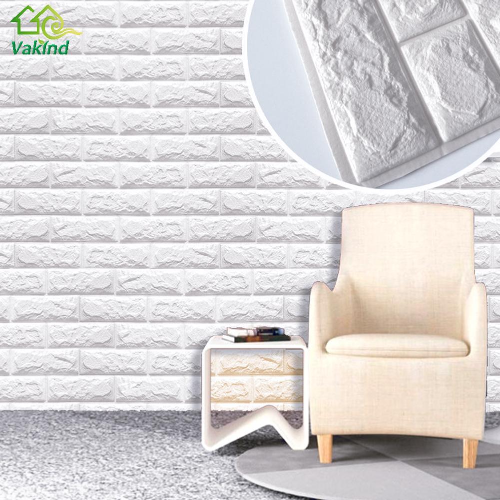 3D наклейки на стену, сделай сам, Настенный декор, ПЭ пенная наклейка кирпич для детей, спальни, гостиной, декоративная наклейка для комнаты, у...