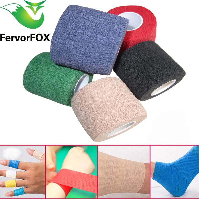 4,5 M colorido deporte Elastoplast Kinesiología atlética vendaje elástico cinta de envoltura autoadhesiva Protector de artrosis de tobillo