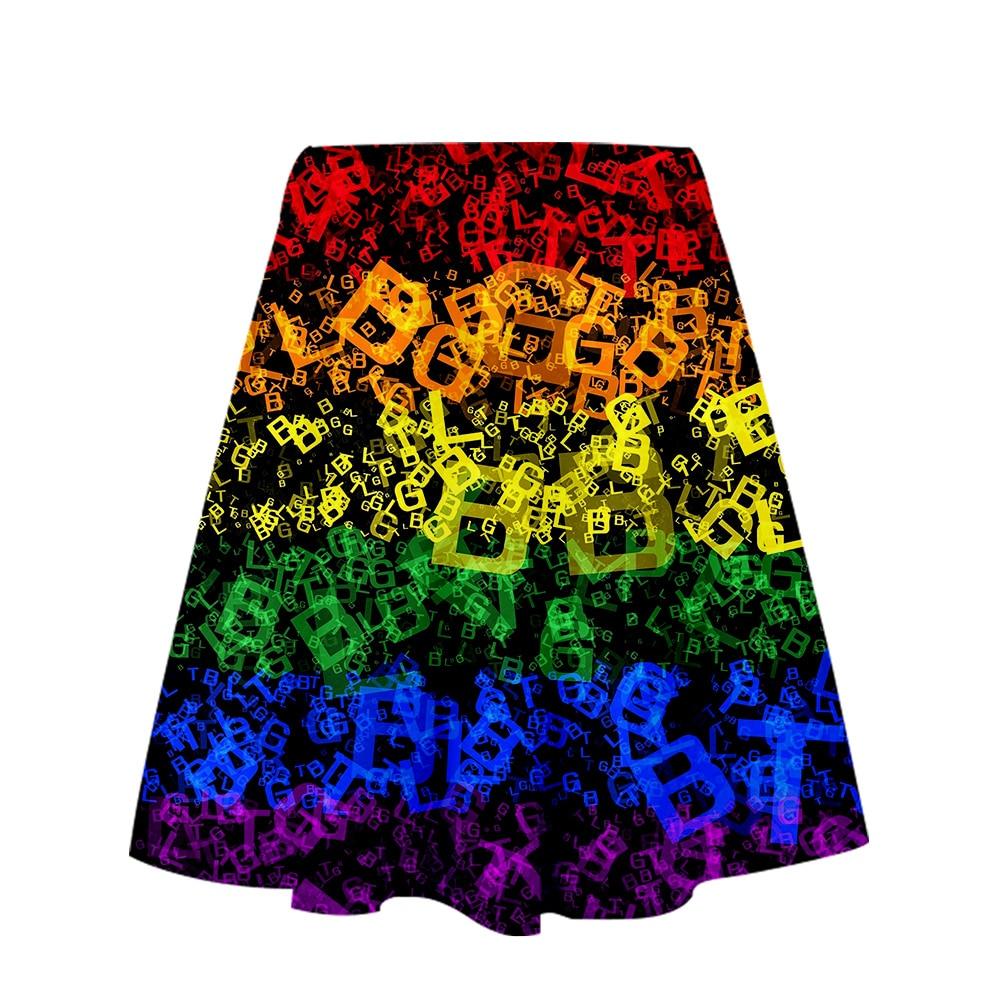 Lgbt 3D Printed New Kpop Women Skirt Fashion Streetwear Short Skirts 2019 Hot Sale Girls Casual Cool Summer Wear plus size xxl